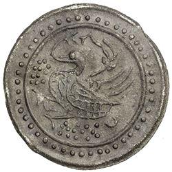 TENASSERIM-PEGU: Anonymous, 17th-18th century, large tin coin, cast (40.72g). EF-AU