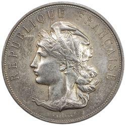 CAMBODIA: AR medal (48.91g), 1901. EF