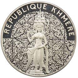 CAMBODIA: Khmer Republic, AR 10000 riels, 1974. PF