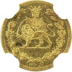 IRAN: Nasir al-Din Shah, 1848-1896, AV 2000 dinars, Tehran, AH1295. NGC MS62