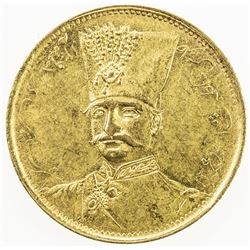 IRAN: Nasir al-Din Shah, 1848-1896, AV toman, Tehran, ND. AU