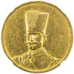 IRAN: Nasir al-Din Shah, 1848-1896, AV 10 toman, Tehran, AH1297. NGC EF
