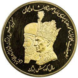 IRAN: Muhammad Reza Shah, 1941-1979, AV medal (50.00g), ND (1971). PF