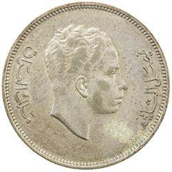 IRAQ: Faisal II, 1939-1958, AR 100 fils, 1955/AH1375. AU
