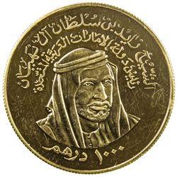 UNITED ARAB EMIRATES: AV 1000 dirhams, 1976. PF