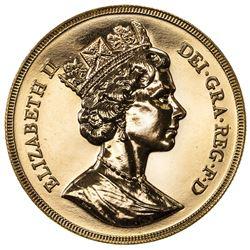 GREAT BRITAIN: Elizabeth II, 1952-, AV 5 pounds, 1988. BU