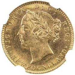 NEWFOUNDLAND: Victoria, 1837-1901, AV 2 dollars, 1888. NGC MS64