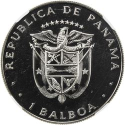 PANAMA: Republic, 1 balboa, 1982-FM. NGC PF67