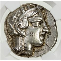 ATHENS (ATTICA): 440-404 BC, AR tetradrachm (17.12g). NGC EF