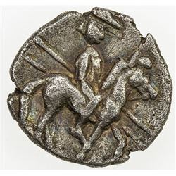MACEDONIAN KINGDOM: Alexander I, 498-454 BC, AR fractional obol (0.78g). VF-EF
