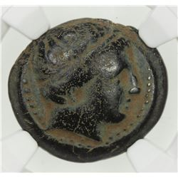 MACEDONIAN KINGDOM: Philip II, 359-336 BC, AE unit, ND. VF