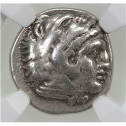 MACEDONIAN KINGDOM: Alexander III, the Great, 336-323 BC, AR drachm, ND. NGC F