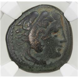 MACEDONIAN KINGDOM: Alexander III, the Great, 336-323 BC, AE unit, ND. VF
