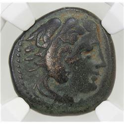 MACEDONIAN KINGDOM: Alexander III, the Great, 336-323 BC, AE unit, ND. VF
