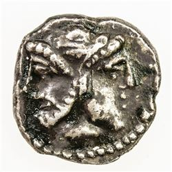 ANCIENT GREECE: uncertain ruler, ca 4th century BC, AR obol (0.89g). VF-EF