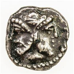 ANCIENT GREECE: uncertain ruler, ca 4th century BC, AR obol (0.89g). VF-EF