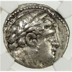 TYRE: AR 1/2 shekel (7.10g), CY 40 (87/6 BC). NGC EF