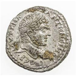 ROMAN EMPIRE: Caracalla, 198-217 AD, AR tetradrachm (12.55g), Heliopolis. VF-EF