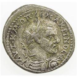 ROMAN EMPIRE: Macrinus, 217-218 AD, AR tetradrachm (15.65g), Carrhae. VF