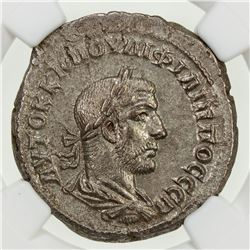 ROMAN EMPIRE: Philip I, 244-249 AD, BI tetradrachm. NGC AU