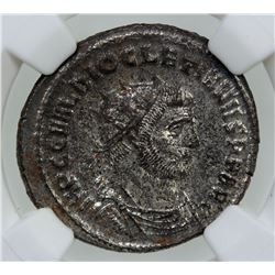 ROMAN EMPIRE: Diocletian, 284-305 AD, BI antoninianus, ND. NGC MS