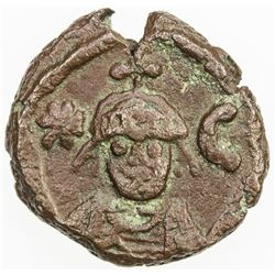 BYZANTINE EMPIRE: Sasanian Occupation, 618-628, AE 12 nummi (4.62g), Alexandria. VF-EF