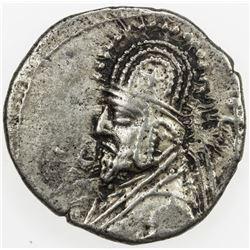 PARTHIAN KINGDOM: Orodes I, 80-75 BC, AR drachm (3.94g), Rhagae. VF