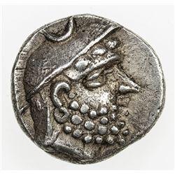 PERSIS KINGDOM: Darev (Darios) I, 2nd century BC, AR obol (0.75g). EF