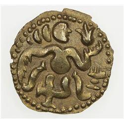 CEYLON (MEDIEVAL): Anonymous, ca. 990-1070, AV pala ( 1/4 kahavanu) (1.06g). EF