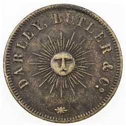 CEYLON: token (9.85g), 1860. VF