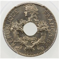 FRENCH INDOCHINA: 5 centimes, 1938. PCGS MS67