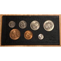 NEW ZEALAND: Elizabeth II, 1952-, 7-coin UNC set, 1953-56