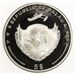 PALAU: Republic, AR 5 dollars, 2014. PF