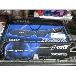 PYLE DUAL FUNCTION WIRELESS MICROPHONE SYSTEM