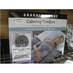 SHARPER IMAGE WEIGHTED BLANKET 15 POUNDS