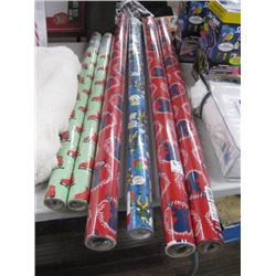 ASSORTED CHRISTMAS WRAPPING PAPER 6 ROLLS