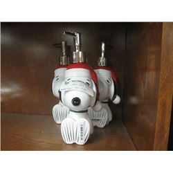 3PC CHRISTMAS SNOOPY SOAP DISPENSER