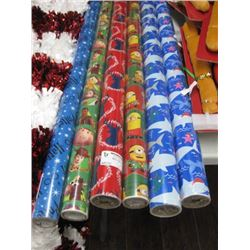 5PC ASSORTED CHRISTMAS WRAPPING PAPER