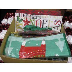 BOX OF ASSORTED CHRISTMAS GIFT BAGS