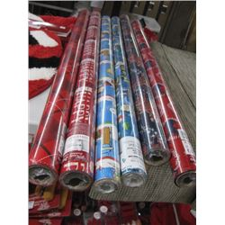 6PC CHRISTMAS WRAPPING PAPER