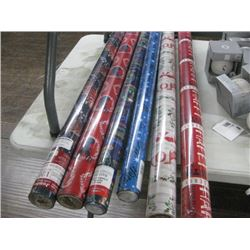 6PC ASSORTED CHRISTMAS WRAPPING PAPER