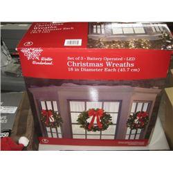 SET OF 3 CHRISTMAS WREATH 18 IN DIAMETER EACH