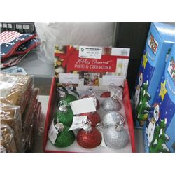 9PC HOLIDAY ORNAMENT PHOTO AND CARD HOLDER