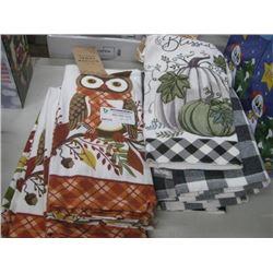 6PC SET OF 2 DECORATIVE KITCHEN TOWELS