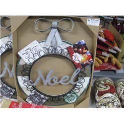 2PC NOEL CHRISTMAS COLLAGE WREATHS