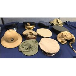 Lot 570 - Military Officer Dress Hat Lot