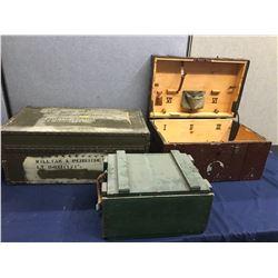 Lot 571 - Military 3 pc Lockers
