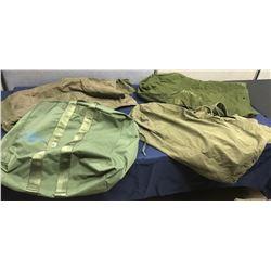 Lot 573 - Military (4) pc Duffel Bag Lot