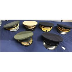 Lot 579 - Military Officer Dress Hat Lot