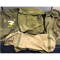Lot 595 - Military 4pc Duffel Bag Lot